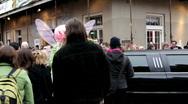 People dressed up on Bourbon Street Stock Footage