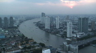 Bangkok and the River Chao Phraya, Thailand  (T/Lapse) Stock Footage