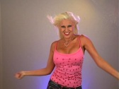 Stock Video Footage of Beautiful Blonde Dancing (2a)