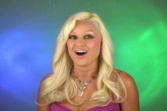 Beautiful Blonde Surprised Stock Footage