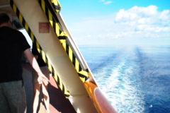 Ocean Liner Wake 1502 Stock Footage