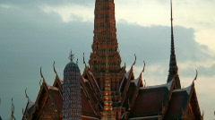 Grand Palace at Dusk, Bangkok, Thailand Stock Footage