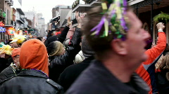 Hands in the air on bourbon street - stock footage