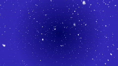 Snow Falling Blue Background - stock footage