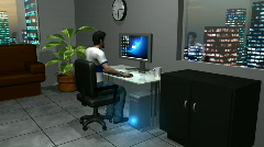 Man with Computer Problem HD1080 Stock Footage