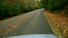 Fall DRIVE Stock Footage