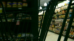 shopping aisles - stock footage