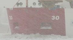 Coast Guard ice breaker Mackinaw snow storm 4 Stock Footage