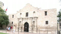 Alamo in San Antonio Stock Footage