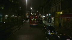 HD1080p Driving on streets of  London at night Stock Footage