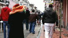 Mardi Gras view of bourbon street - stock footage