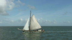 Dutch sailship at sea Stock Footage