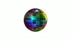 Color disco ball Stock Footage