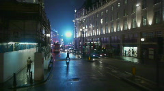 HD1080p Driving on streets of  London at night Time Lapse Stock Footage