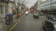 Stock Video Footage of HD1080p Driving on streets of  London at day Time Lapse