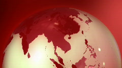 Rotating red globe Stock Footage