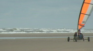 Stock Video Footage of Blowkarts on the beach