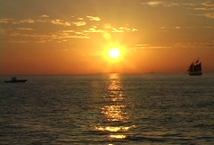 Sunset in the Keys Stock Footage