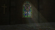 Stock Video Footage of Church Stained Glass Window