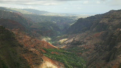 Waimea Canyon from Puu Hinahina, Kauai, Hawaii - stock footage