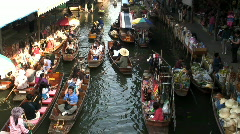 Floating Market, Thailand Asia  - stock footage