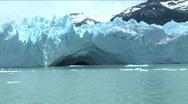 Perito Moreno Glacier calving Argentina Stock Footage