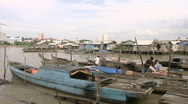 Stock Video Footage of Batam Harbour Indonesia with boats