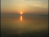 Stock Video Footage of Sunrise on Lake Erie