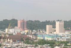 Batam island the city Stock Footage