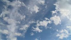 Bright Sky with 2 cloud layers Stock Footage