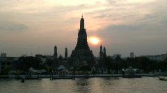 Wat Arun Temple, Bangkok, T/Lapse, Stock Footage