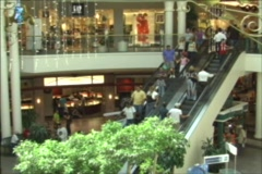 Puerto Rico - People in shopping center Stock Footage