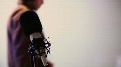 136 defocused studio recording guy audio sound design engineer Stock Footage