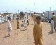 Dirt Road in Refugee Camp Swat, Pakistan Stock Footage