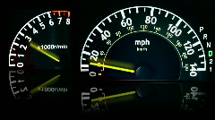 Speed And Tach - stock footage