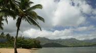 Puu Poa Beach, North Kauai, Hawaii Stock Footage