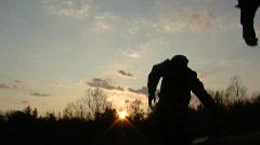 Man throwing a flashbang grenade (hd) c Stock Footage