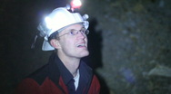 Cave and Mine Inspector Stock Footage