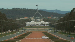 Parliament House Traffic 1080p Stock Footage