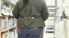 Stock Video Footage of Overweight Female Shoppers