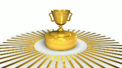 Golden Award Cup - Motion Background 23 (HD) Stock Footage