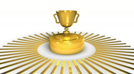 Stock Video Footage of Golden Award Cup - Motion Background 23 (HD)