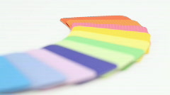 Color plastics palette Stock Footage
