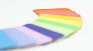 Color plastics palette Stock Footage