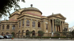Sequence of Teatro Massimo, Palermo, Sicily Stock Footage