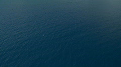 Aerial over the Pacific Ocean Stock Footage