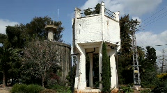 The old water tower of Nahalal (Nahlal), Israel Stock Footage