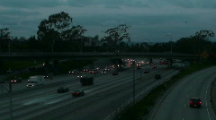 Rush Hour Dusk To Dark Time Lapse Stock Footage