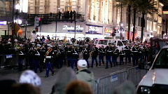 Air force marching band in hermes parade mardi gras Stock Footage