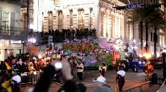 Float in hermes parade mardi gras Stock Footage